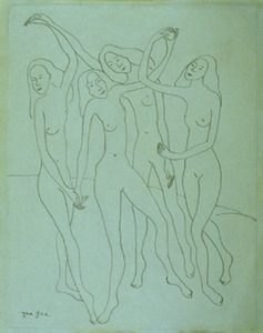 (Study for Dancing Nudes)