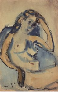 Nude in Armchair